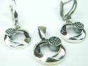 Set bijuterii argint, cercei si pandantiv