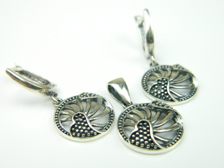 Set bijuterii argint, pandantiv si cercei