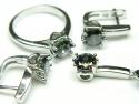 Set bijuterii argint rodiat, 4 piese, topaz mistic