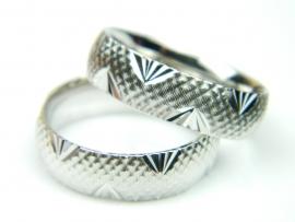 Verigheta 55 mm, argint rodiat, aspect aur alb