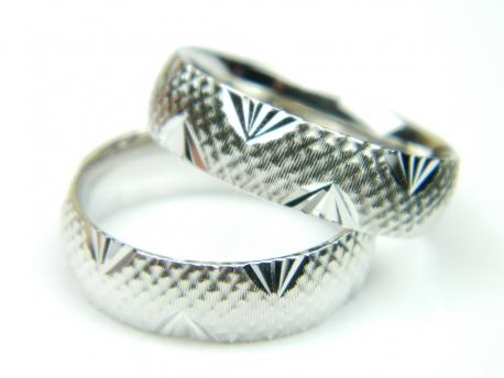 Verigheta 58,5 mm, argint rodiat, aspect aur alb