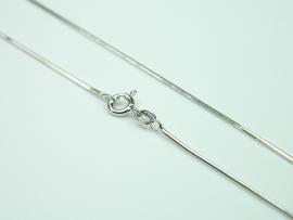 Lantisor argint rodiat, aspect aur alb, 50 cm