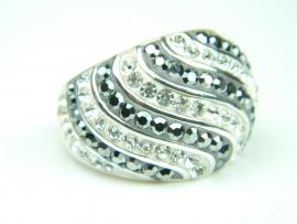 Inel argint, marcasite si zirconia