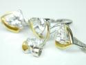Set bijuterii argint rodiat si aurit, inel, cercei si pandantiv, topaz alb