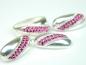 Set bijuterii argint, inel, cercei si pandantiv, zirconii roz