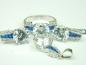 Set bijuterii argint rodiat, aspect aur alb, 4 piese, topaz si zirconii colorate