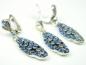 Set bijuterii argint, model vintage, cercei si pandantiv, zirconii albastre