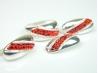 Set bijuterii argint, inel, cercei si pandantiv, zirconii rosii