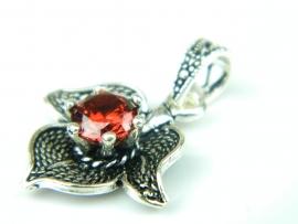 Pandantiv argint, handmade, rubin