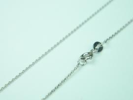 Lantisor argint rodiat, aspect aur alb, 48 cm