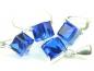 Set bijuterii argint, patru piese, safir
