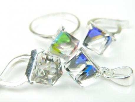 Set bijuterii argint, patru piese, topaz mistic