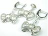Set bijuterii argint rodiat, aspect aur alb, cercei si pandantiv, zirconia