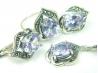 Set bijuterii argint, patru piese, ametist si marcasite