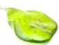 Pandantiv argint, handmade, chihlimbar verde natural originar din Republica Dominicana