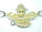 Set bijuterii argint rodiat si aurit, patru piese, citrin si zirconii