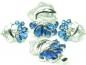 Set bijuterii, argint rodiat, aspect aur alb, patru piese, safir si zirconii