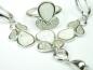 Set bijuterii argint rodiat, aspect aur alb, patru piese, opal alb si zirconii