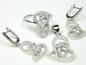 Set bijuterii argint rodiat, patru piese, zirconii