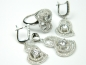 Set bijuterii argint rodiat aspect aur alb, 4 piese, zirconii