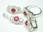 Set bijuterii argint, inel, cercei, pandantiv, topaz roz si zirconii