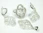 Set bijuterii argint, inel, cercei, pandantiv, zirconii