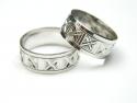 Verigheta, circumferinta: 61 mm, argint rodiat, aspect aur alb