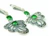Cercei argint smarald si marcasite