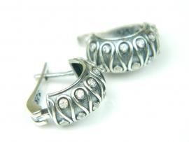 Cercei argint cu zirconia