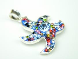 Pandantiv argint zirconii multicolore