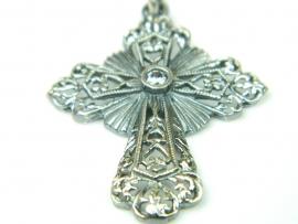 Pandantiv argint vintage, zirconia