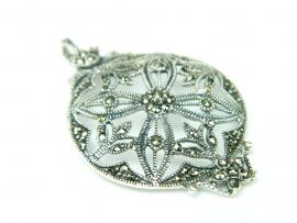 Pandantiv argint vintage, marcasite