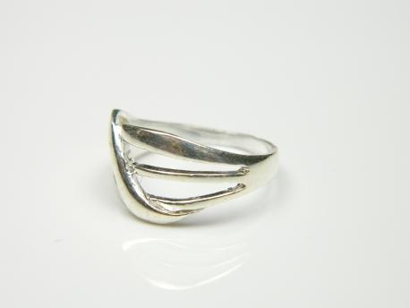 Inel argint rodiat